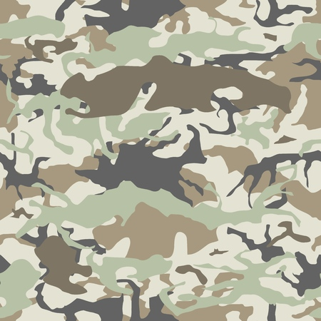 Camouflage seamless vector pattern - military camo texture.
