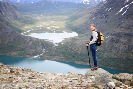 Norway tourist - Bessegen trail hike in Jotunheimen National Park.