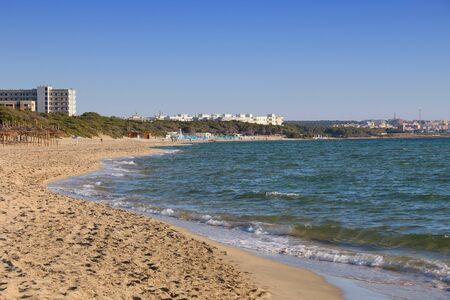 lido: Salento beach in Italy. Lido Rivabella in Apulia region. Stock Photo