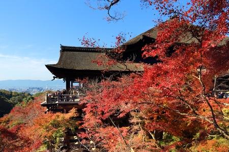 Kyoto, Japan - Kiyomizu-dera Temple in autumn. Stock Photo