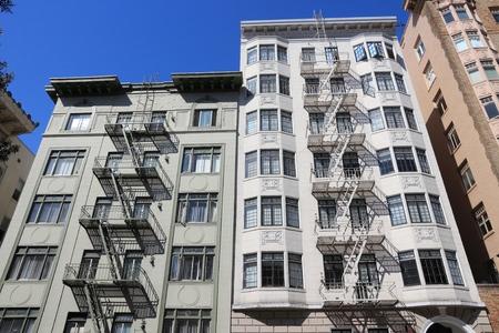 San Francisco, California - beautiful old architecture in Nob Hill area. Stock Photo