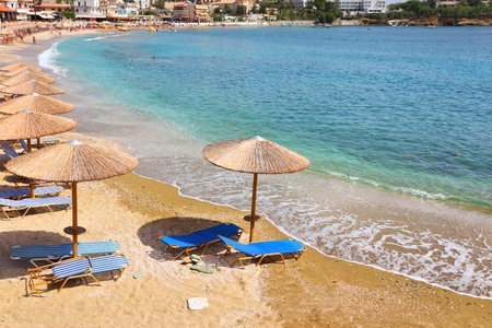 Agia Pelagia holiday town, Crete island, Greece. Stock Photo