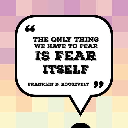 心に強く訴える引用 - 米国の大統領フランクリン ・ デラノ ・ ルーズベルトによって言葉と動機付けのポスター: 我々 は恐怖する必要がある唯一の