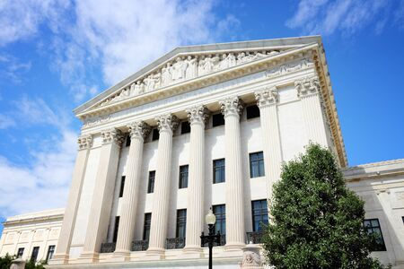 district of columbia: US Supreme Court building in Washington DC, United States of America. Stock Photo