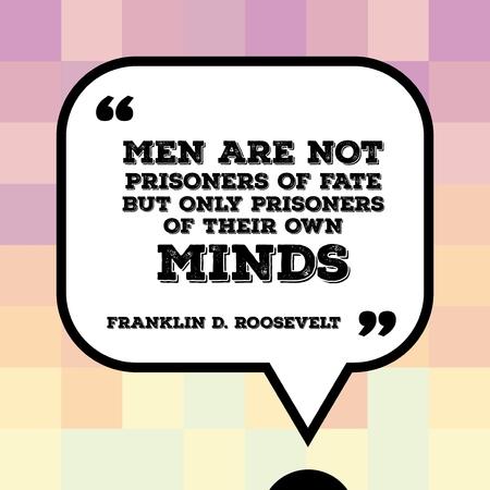 心に強く訴える引用 - 米国の大統領フランクリン ・ デラノ ・ ルーズベルトによって言葉と動機付けのポスター: 男性が運命の囚人が自分の心の唯