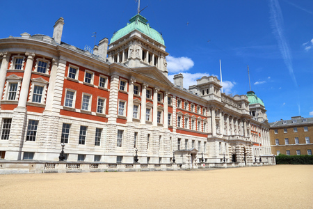 London Admiralty House. One of Whitehall government buildings.