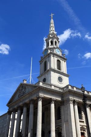 trafalgar: London church - St. Martin in the Fields at Trafalgar Square.