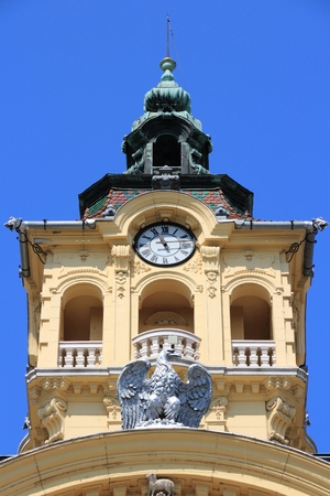 Town Hall in Szeged, Hungary. Landmark in Csongrad county.