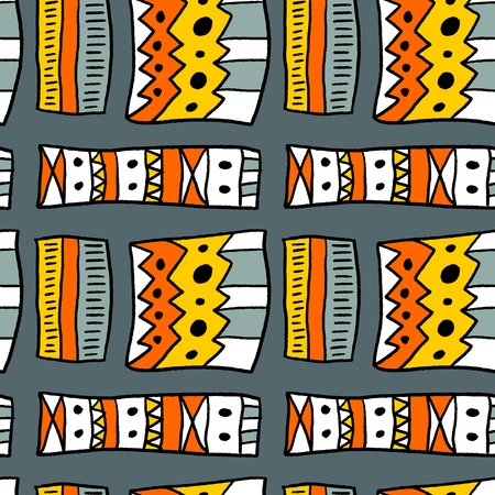 Tribal ethnic pattern - artistic fabric material texture. Seamless background. Illustration