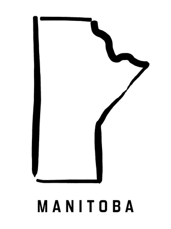 Manitoba map outline - smooth simplified Canadian province shape map vector.