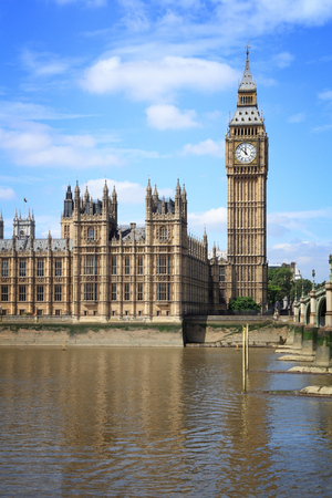 Palace of Westminster in London, UK. Big Ben.