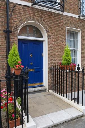 London Architecture Style Uk Beautiful Georgian Front Door Stock