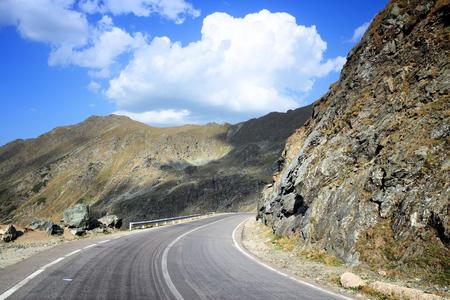 Transfagarasan Highway - mountain road in Fagaras Mountains, Romania. Stock Photo