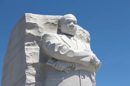 WASHINGTON DC, USA - JUNE 15, 2013: Martin Luther King memorial in Washington. 18.9 million tourists visited capital of the United States in 2012. Editorial