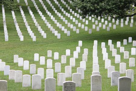 WASHINGTON DC, USA - JUNE 13, 2013: Arlington National Cemetery in Washington. Arlington National Cemetery was established in 1864 and has more than 400,000 graves.
