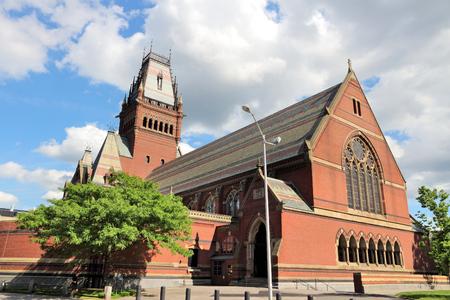 Harvard University - Memorial Hall. Cambridge, Massachusetts in the United States.