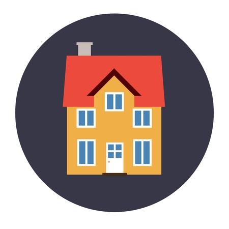 Home icon - house design element illustration. Illustration