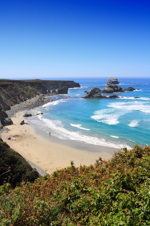 California, United States - Pacific coast view. Big Sur region - Sand Dollar Beach (Monterey County).