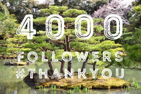 4000 follower - account di social media dell'azienda nota di ringraziamento. 4k fan. Archivio Fotografico - 87911014