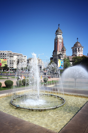 PLOIESTI, ROMANIA - AUGUST 20, 2012: People visit Ploiesti, Romania. Ploiesti is the 9th largest city in Romania and exists since 1596. It is famous for oil industry.