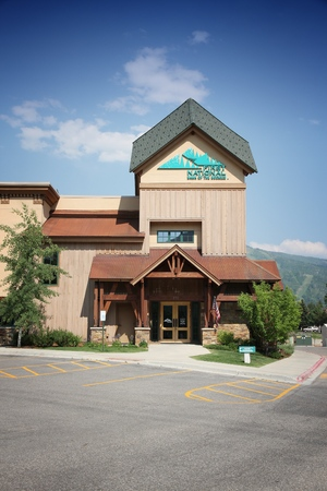 STEAMBOAT SPRINGS, COLORADO - JUNE 19, 2013: First National Bank of the Rockies in Steamboat Springs, Colorado. FNBR exists since 1904 and serves northwest Colorado. Editorial
