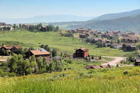Steamboat Springs, town in Colorado, United States Stock Photo