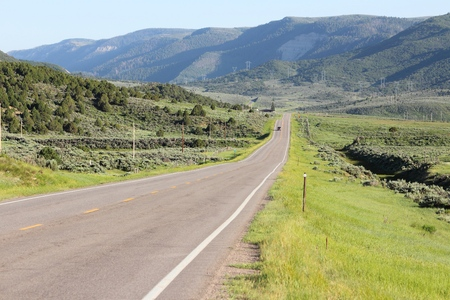 Rio Blanco County landscape in Colorado, USA.