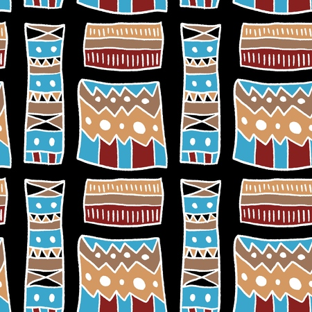 Africa fashion design - artistic fabric material texture. Seamless background.