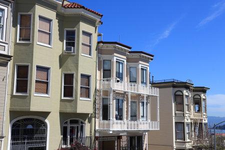 San Francisco, California - beautiful old architecture in Nob Hill area. Editorial