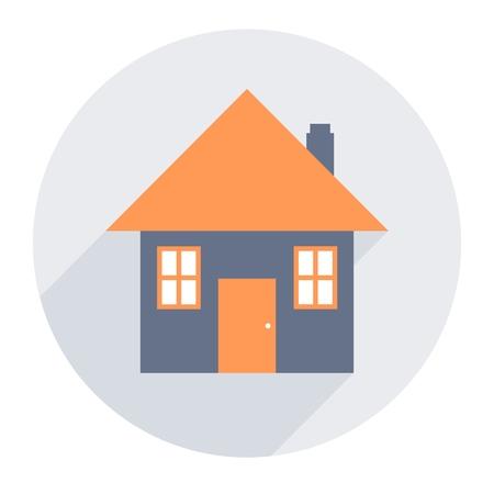 Eenvoudig huispictogram - huis ontwerpelement vector. Stockfoto - 88888972