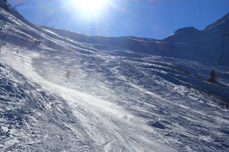 Austria ski. Bad Hofgastein ski resort. High Tauern (Hohe Tauern) mountain range in Alps.