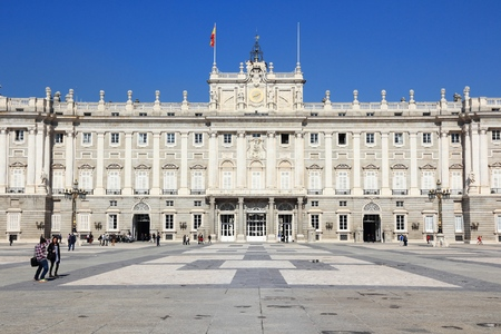 MADRID, SPAIN - OCTOBER 22, 2012: People visit Royal Palace in Madrid. Madrid is a popular tourism destinations with 3.9 million estimated annual visitors (official data).