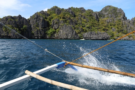 Island hopping tour in Palawan island, Philippines.