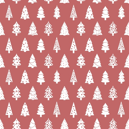 christmas wrapping paper pattern seamless christmas tree background vector stock vector 92114444