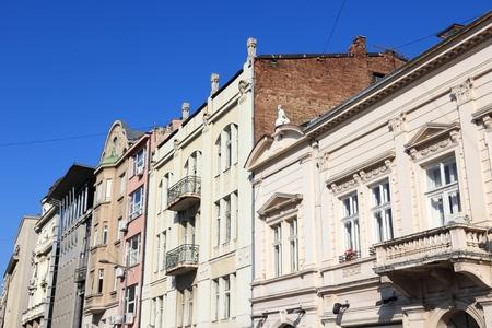 Belgrade city street view - capital of Serbia. Kralja Petra street.