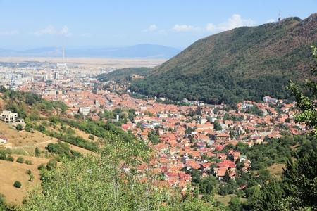 루마니아에서 Brasov 공중보기입니다. 트 랜 영역에서 올드 타운입니다.