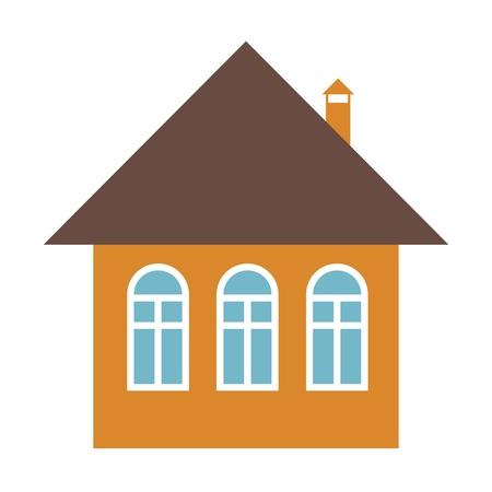 Home vector icon - house design element illustration.