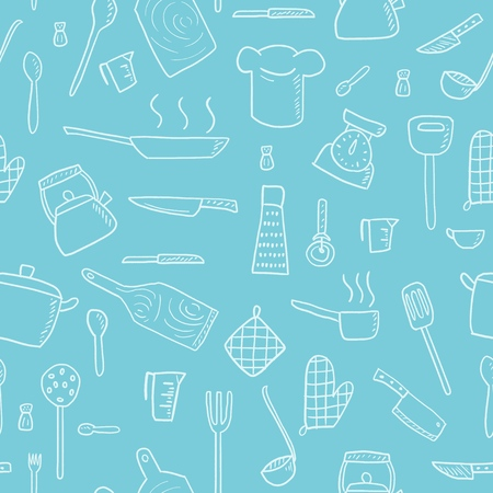 Kitchen tools pattern.