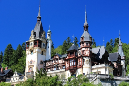 Castle in Romania. Peles Castle is a beautiful Neo-Renaissance landmark.