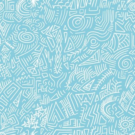 Quirky doodle texture - scribble seamless background vector. Illustration