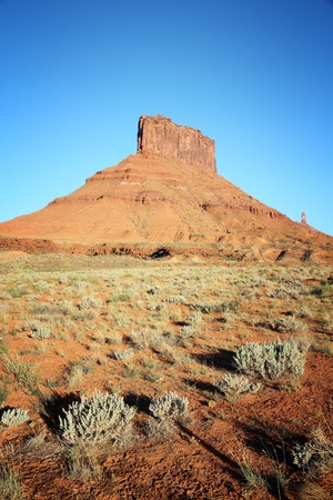 Utah nature, USA - red rock in Castle Valley.