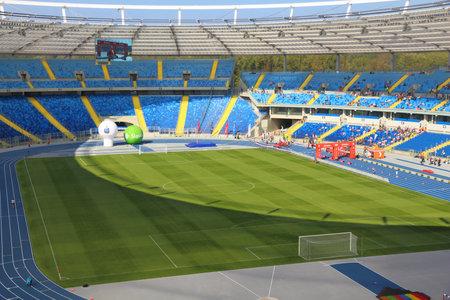 KATOWICE, POLSKA - 1 października 2017: Stadion Śląski (Stadion Śląski) Dzień otwarty w Katowicach. Stadion Śląski to jeden z największych obiektów w Polsce.