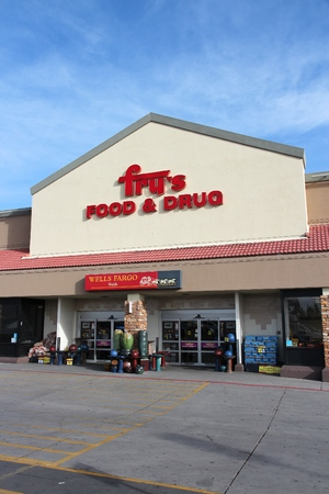 FLAGSTAFF, UNITED STATES - APRIL 4, 2014: Frys Food and Drug store in Flagstaff. The supermarket chain operates in 119 locations and is part of Kroger company. Editorial
