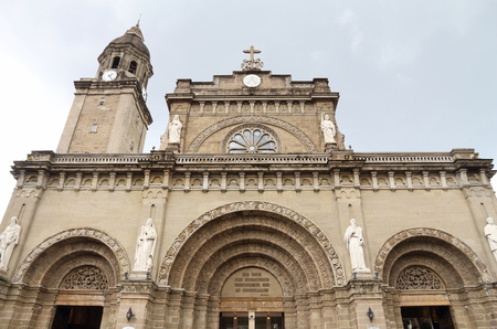 Manila Cathedral of Immaculate Conception in Philippines.