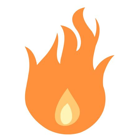 Simple flame icon - vector fire illustration design element.