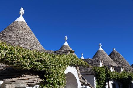 Alberobello traditional houses - trulli. Apulia region of Italy. Reklamní fotografie