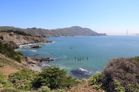 California coast - Golden Gate National Recreation Area in Marin County. Stock Photo