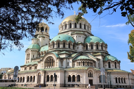 Saint Alexander Nevsky Cathedral of Sofia, Bulgaria. Orthodox Church landmark.