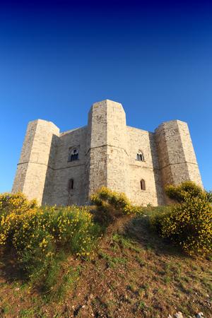 Castel Del Monte - landmark medieval castle in Apulia, Italy. Фото со стока