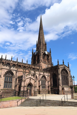 Rotherham, town in South Yorkshire, England. Rotherham Minster (All Saints Church), Gothic architecture.
